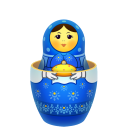 Blue matreshka